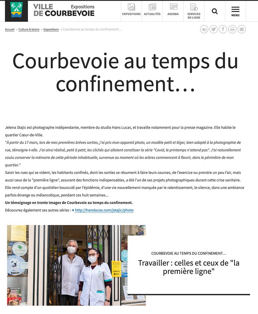 EXPOSITION WEB MAIRIE DE COURBEVOIE